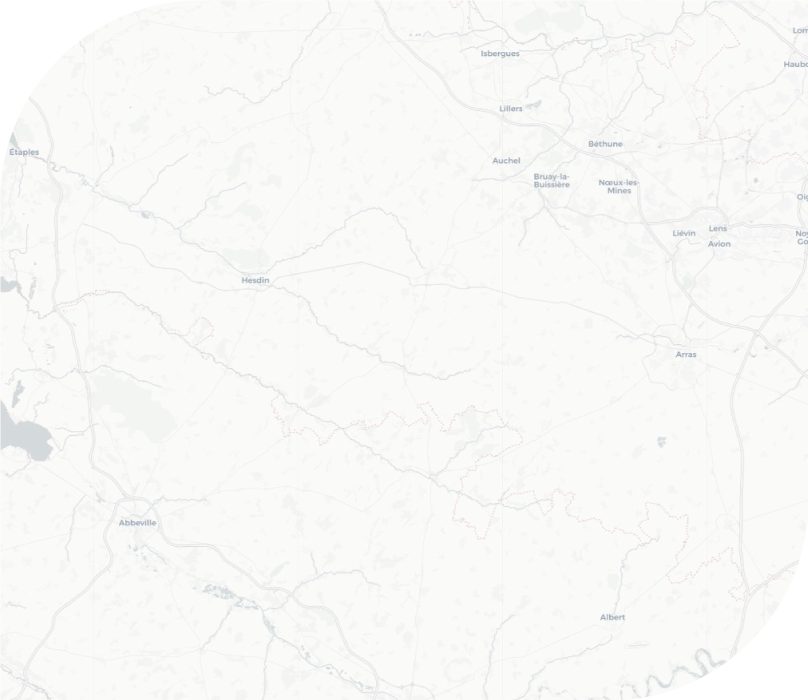 carte géographique du GHAT d'Arras